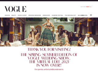 vogueweddingshow.in screenshot