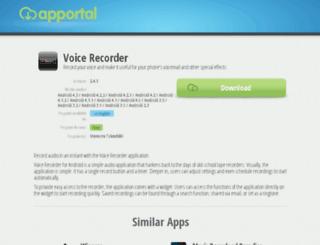voice-recorder.apportal.co screenshot