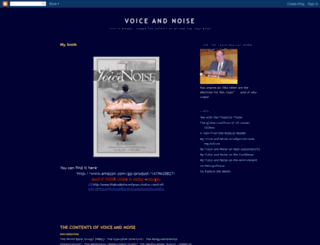 voiceandnoise.blogspot.com screenshot