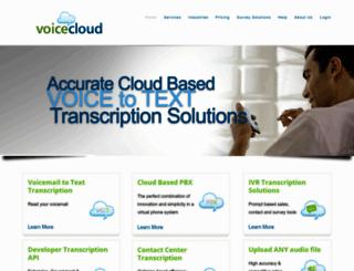 voicecloud.com screenshot