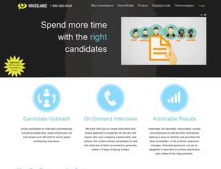 voiceglance.com screenshot