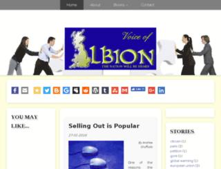 voiceofalbion.com screenshot