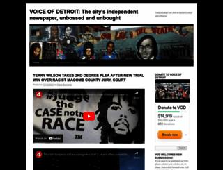 voiceofdetroit.net screenshot