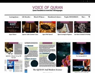 voiceofquran.info screenshot