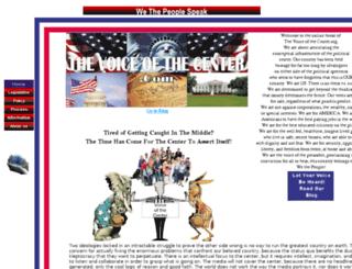 voiceofthecenter.com screenshot