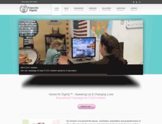 voicesfordignity.com screenshot