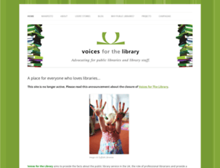 voicesforthelibrary.org.uk screenshot
