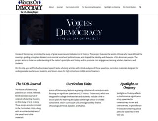 voicesofdemocracy.umd.edu screenshot