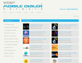 voipmobiledialer.net screenshot