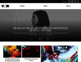 voir.ca screenshot