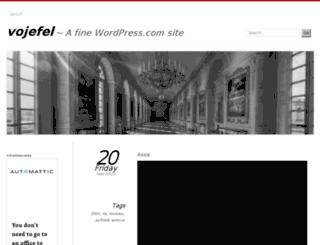 vojefel.wordpress.com screenshot