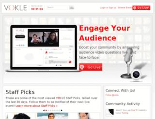 vokle.com screenshot