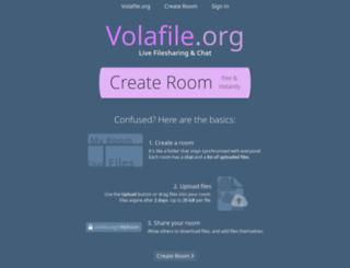 volafile.net screenshot