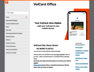 volcard.utk.edu screenshot
