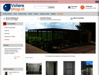 voliereshop.nl screenshot