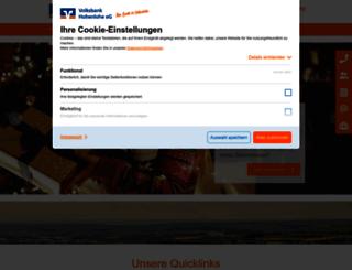 volksbank-hohenlohe.de screenshot