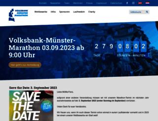 volksbank-muenster-marathon.de screenshot