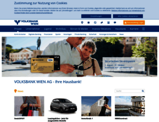 volksbankwien.at screenshot
