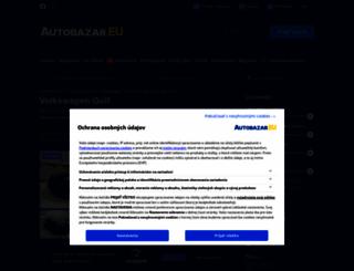 volkswagen-golf.autobazar.eu screenshot