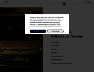 volkswagen.se screenshot
