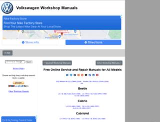volkswagen.workshop-manuals.com screenshot