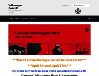 volkswagenpartsuk.co.uk screenshot