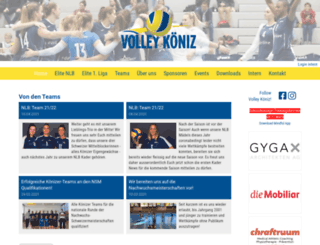 volley-koeniz.ch screenshot