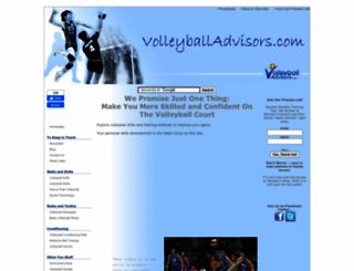 volleyballadvisors.com screenshot