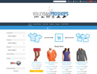 volleyballproshops.com screenshot
