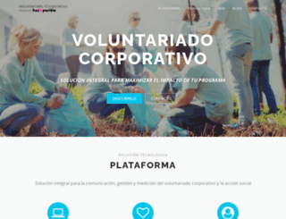 voluntariadocorporativo.org screenshot