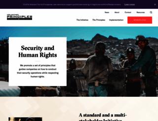 voluntaryprinciples.org screenshot