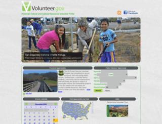 volunteer.gov screenshot