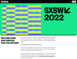 volunteer.sxsw.com screenshot