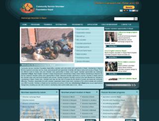 volunteercharitywork.org screenshot