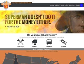 volunteerfirefighter.org screenshot