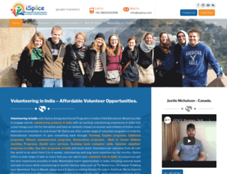 volunteerindiaispiice.com screenshot