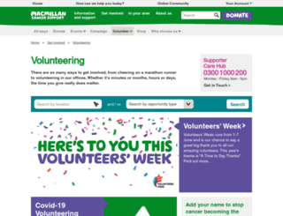 volunteering.macmillan.org.uk screenshot