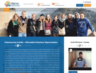 volunteeringinindia.com screenshot