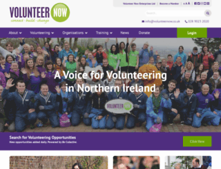 volunteernow.co.uk screenshot