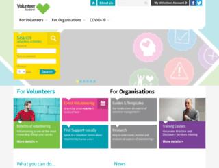 volunteerscotland.org.uk screenshot