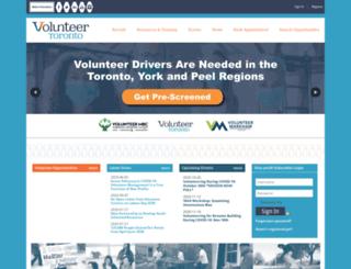 volunteertoronto.ca screenshot