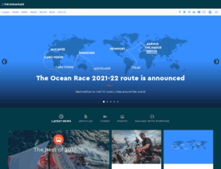 volvooceanrace.org screenshot