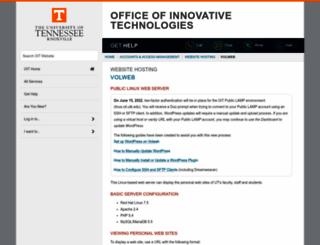 volweb.utk.edu screenshot