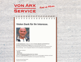 vonarx-service.ch screenshot