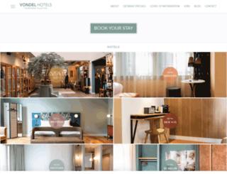 vondelhotels.com screenshot