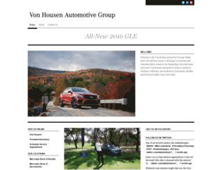 vonhousenmercedes.com screenshot