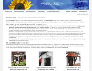 vordach-shop.de screenshot