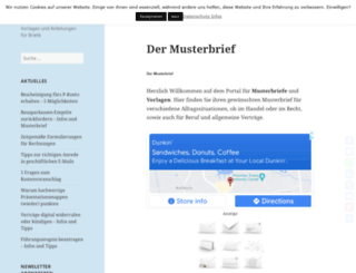 vorlage-musterbriefe.de screenshot
