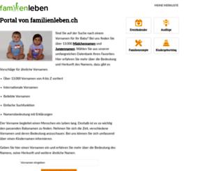 vornamen.familienleben.ch screenshot