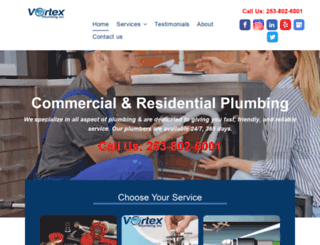 vortexplumbinginc.com screenshot